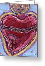 Bleeding Sacred Heart Greeting Card
