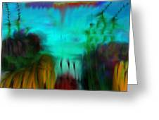 Lands Under The Sea - Abstract Landscape Greeting Card