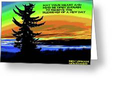 Blessings Of A New Day Greeting Card