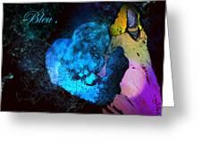 Bleu Bleu L Amour Est Bleu Greeting Card