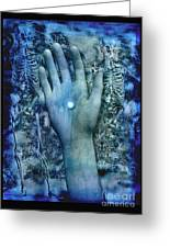 Bleu Danse Macabre Greeting Card