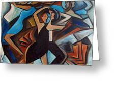 Bleu Danse Greeting Card