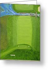 Blimp View Golf Greeting Card