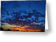 Blink Sunset Greeting Card