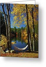 Bliss - New England Fall Landscape Hammock Greeting Card by Jon Holiday