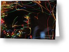 Blizzard Of Colorful Lights. Dancing Lights Series Greeting Card