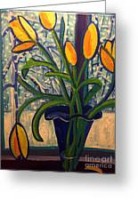 Blizzard Tulips Greeting Card