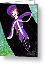 Biking Holiday Greeting Card