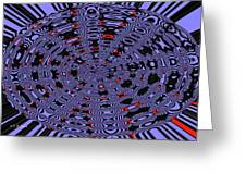 Blue Black Red Abstract Greeting Card