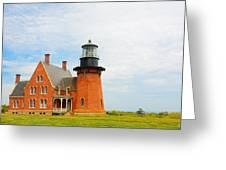 Block Island Southeast Lighthouse Artwork Greeting Card