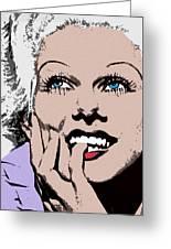 Blond Bombshell Greeting Card