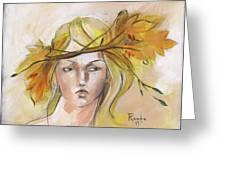 Blonde Autumn Forward Greeting Card