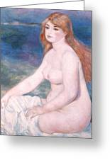 Blonde Bather II Greeting Card