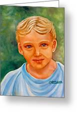 Blonde Boy Greeting Card