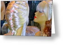 Blonde, Braids, Bangs And Beautiful Greeting Card
