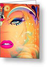 Blonde De Vogue Greeting Card
