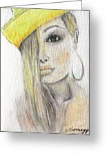 Blonde Hair, Yellow Hat -- The Original Greeting Card