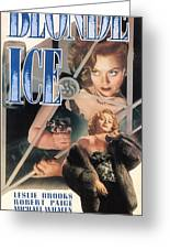 Blonde Ice Film Noir Greeting Card