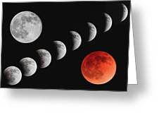 Blood Moon Of The Tetrad Greeting Card