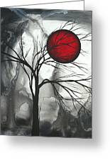 Blood Of The Moon 2 By Madart Greeting Card by Megan Duncanson