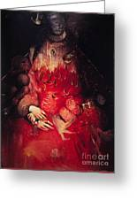 Blood Queen Greeting Card