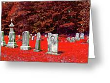 Blood Red Greeting Card