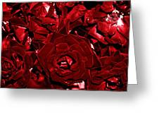 Blood Red Roses Greeting Card