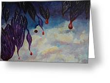 Blood Sky Greeting Card