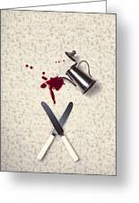 Bloody Dining Table Greeting Card
