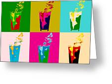 Bloody Mary Pop Art Panels Greeting Card