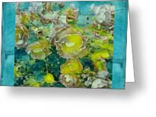 Bloom In Vintage Ornate Style Greeting Card