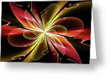 Bloom With Red Greeting Card