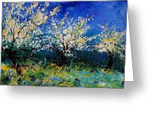 Blooming Appletrees 56 Greeting Card