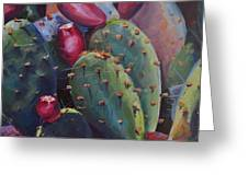 Blooming Cacti  Greeting Card