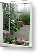 Blooming Conservatory Greeting Card
