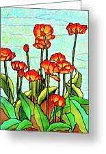 Blooming Flowers Greeting Card
