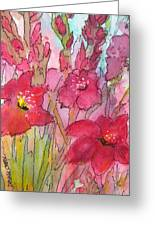 Blooming Glads Greeting Card