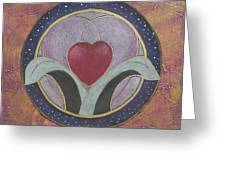 Blooming Heart Mandala Greeting Card