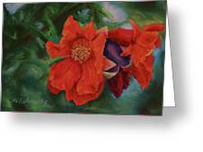 Blooming Poms Greeting Card