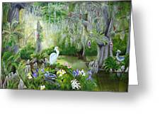 Blooming Swamp Greeting Card
