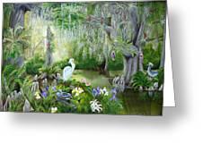 Blooming Swamp Greeting Card by Darlene Green