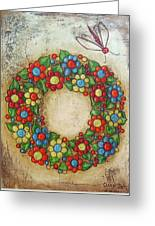 Blooming Wreath Greeting Card