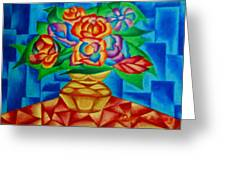 Blooms In Blue Greeting Card