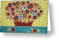 Blooms In Pot Greeting Card