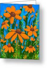 Blooms Of Orange Greeting Card