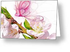 Blossom And Butterflies Greeting Card