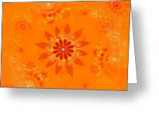 Blossom In Orange Greeting Card