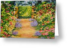 Blossoming Garden Greeting Card