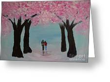 Blossoming Romance Greeting Card