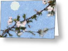 Blossoms In Moonlight Greeting Card